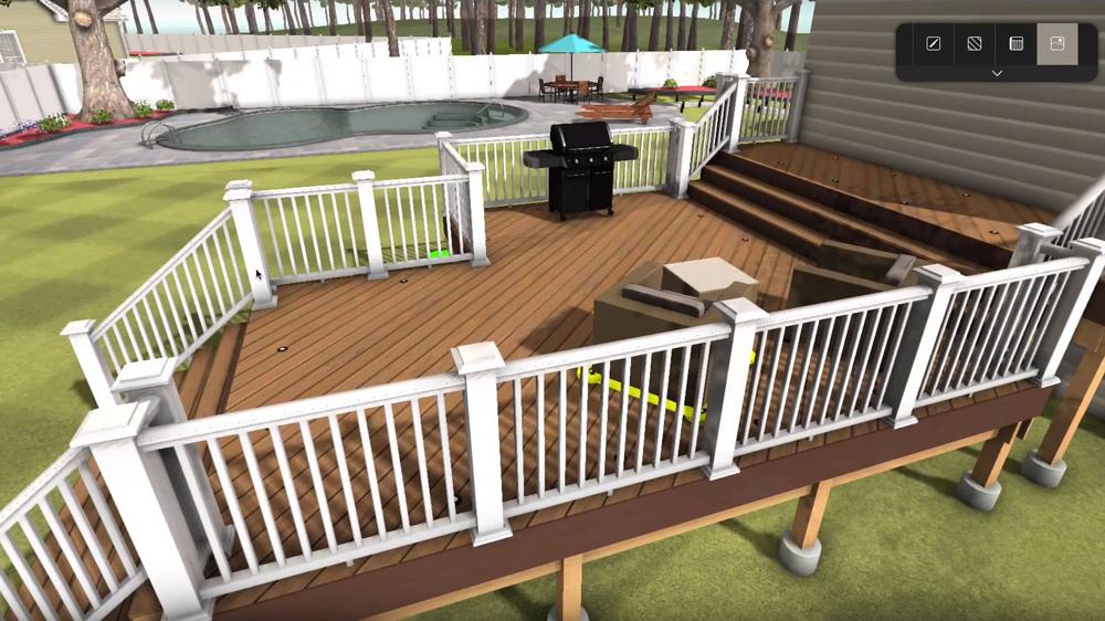 Deck designer ferramenta de design de decks timbertech for Online deck designer tool