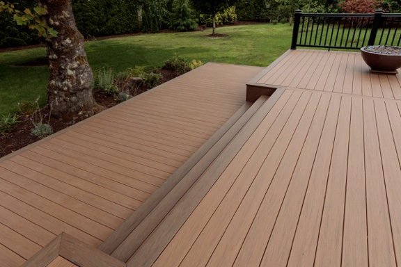 timbertech terrasse tropical antigua gold