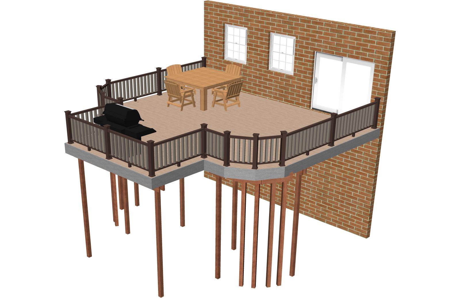 Free deck plans deck building plans timbertech australia for Deck planner