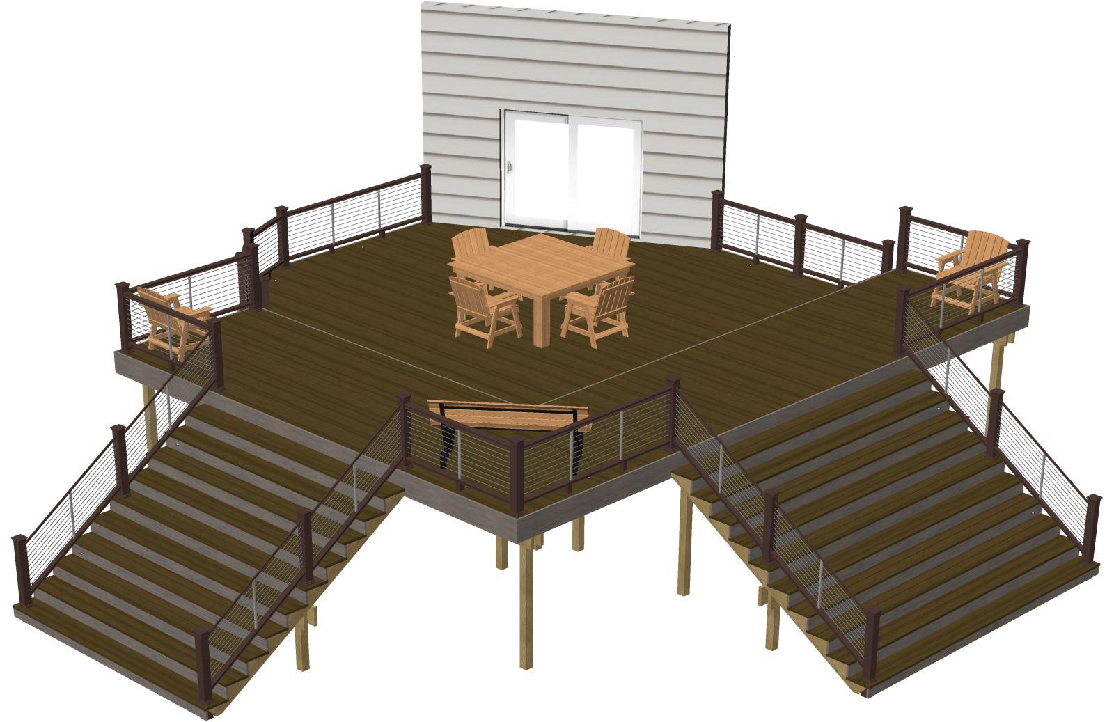Free deck plans deck building plans timbertech australia for Deck design plans
