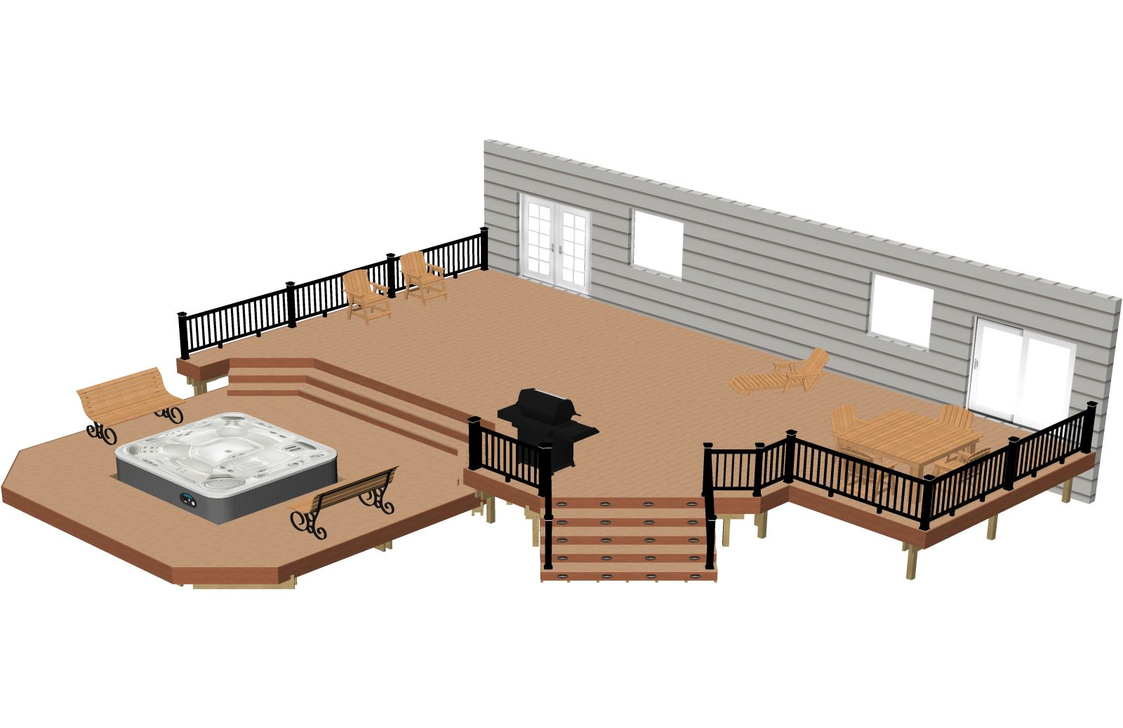 Disclaimer Terms Of Use These Deck Plans Plan Are Not Considered Valid Unless Roved By Your Local Building Inspector Or Structural Engineer
