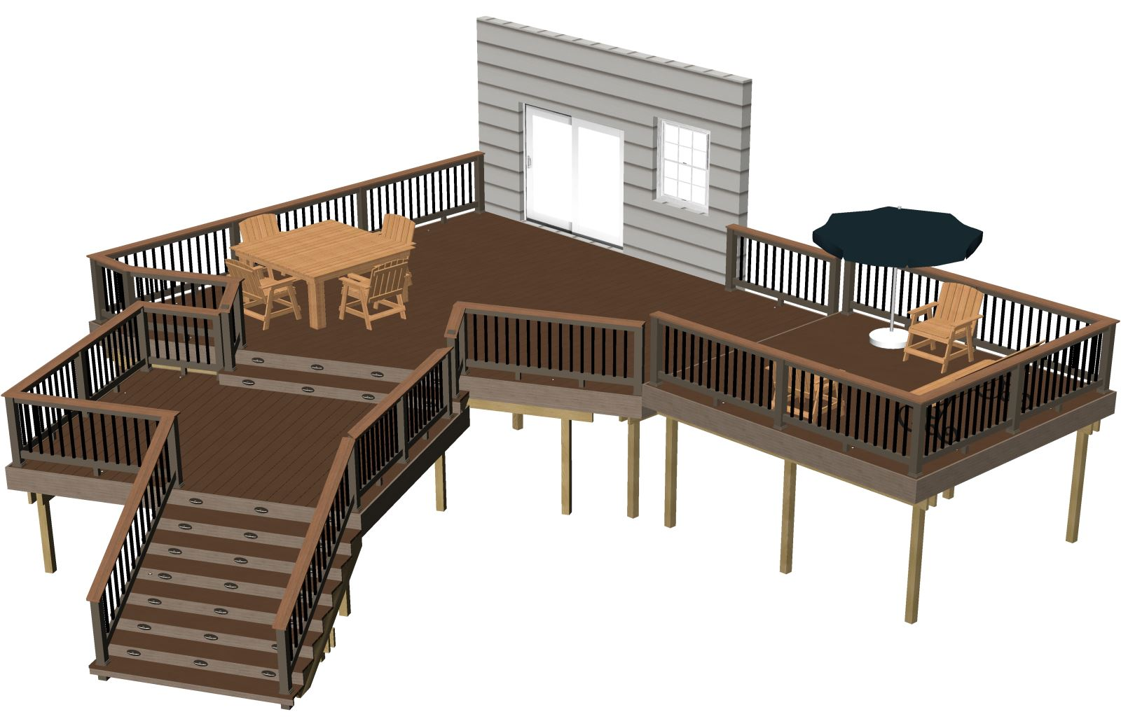 Free deck plans deck building plans timbertech australia for Free deck designer online