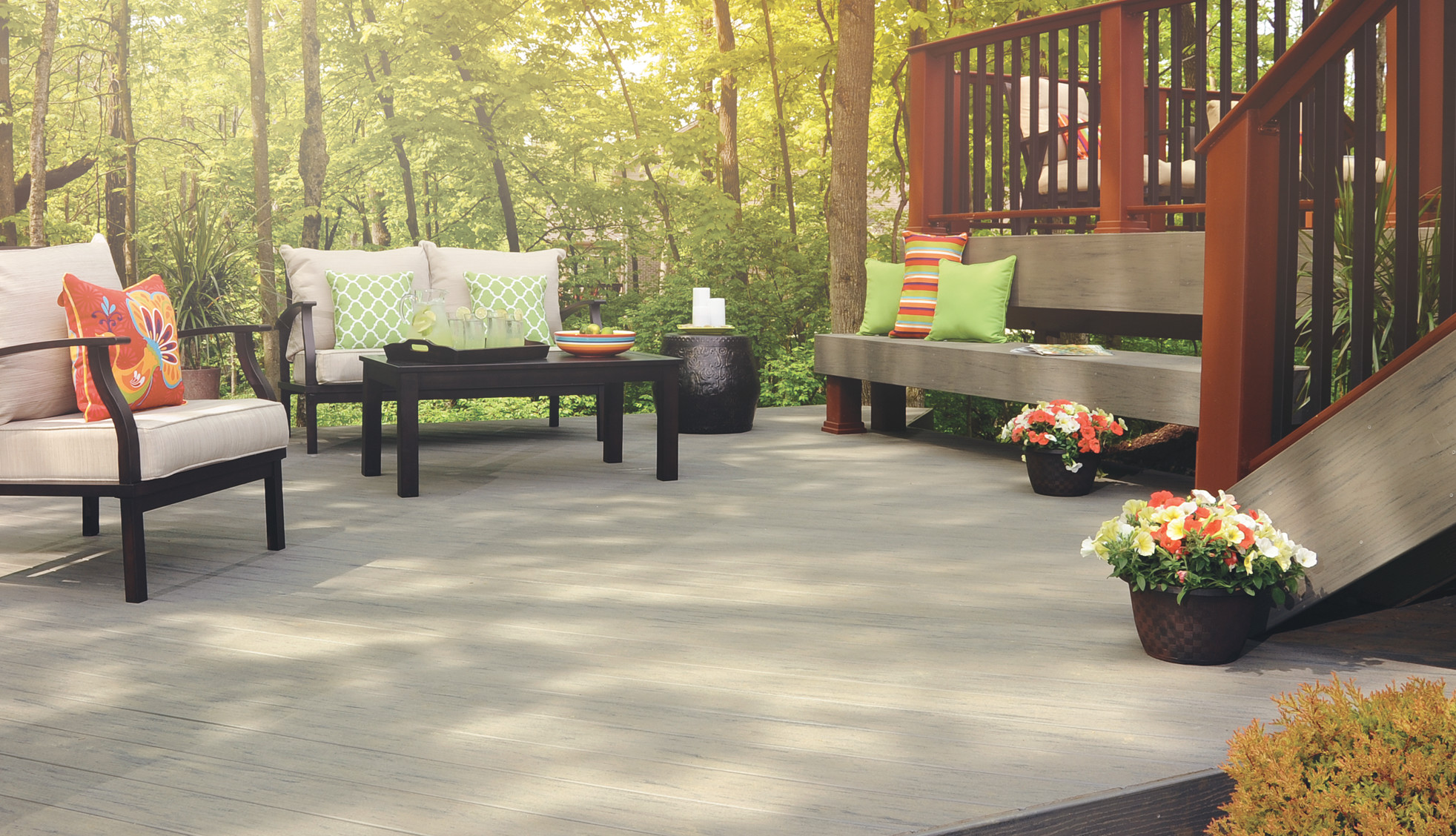 ADTG-TimberTech Terrain Decking Collection in Silver Maple