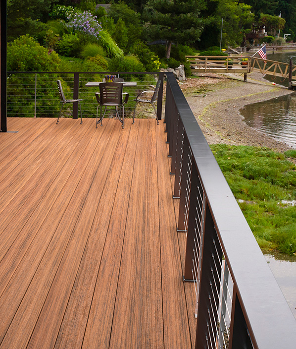 ADTG-TimberTech Tropical Decking Collection in Antigua Gold
