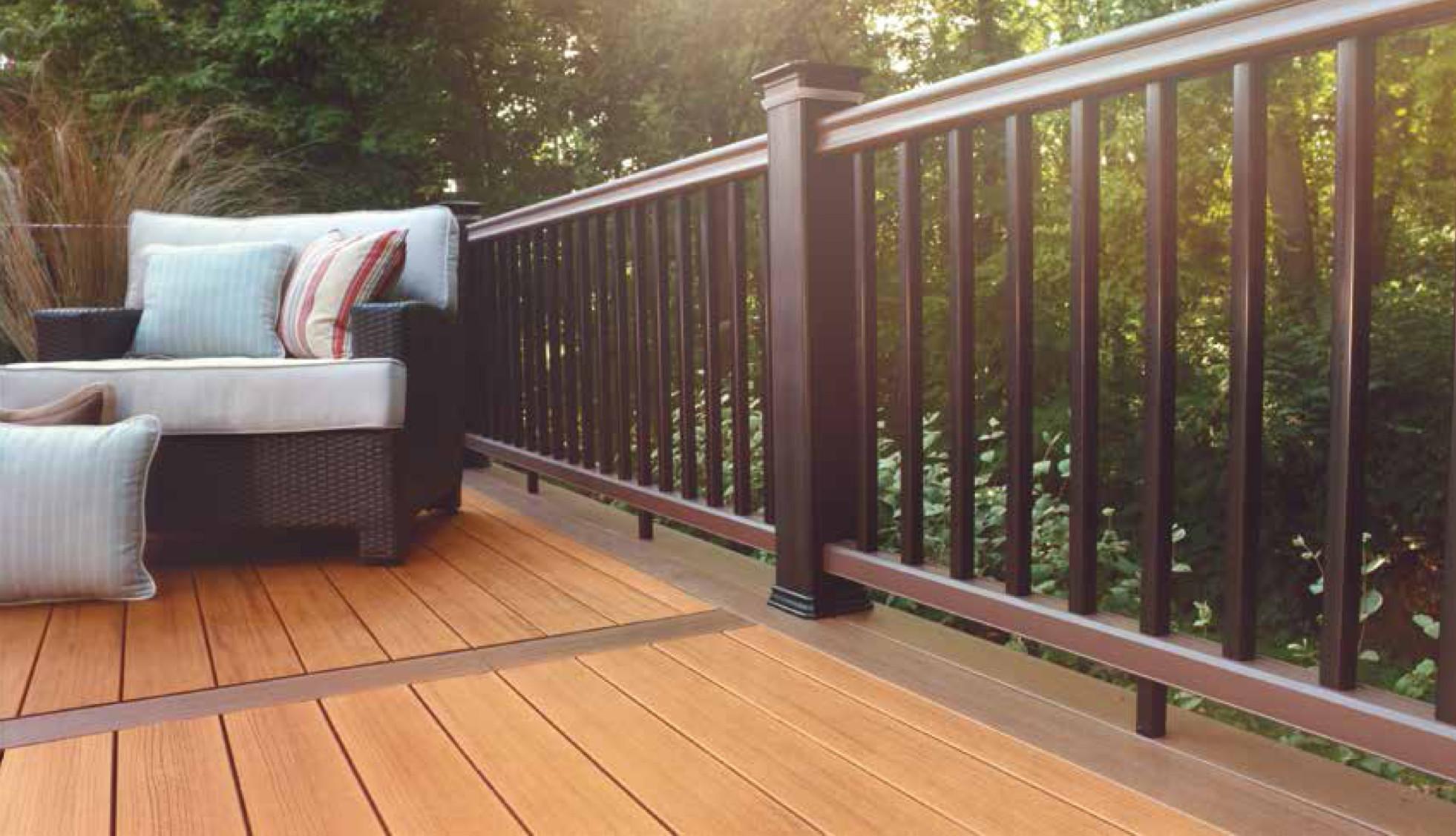 Collection de terrasses Tropical de TimberTech de couleur Teack