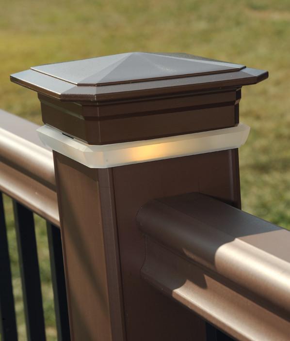 Luces de remate de poste para cubiertas de TimberTech: imagen 2