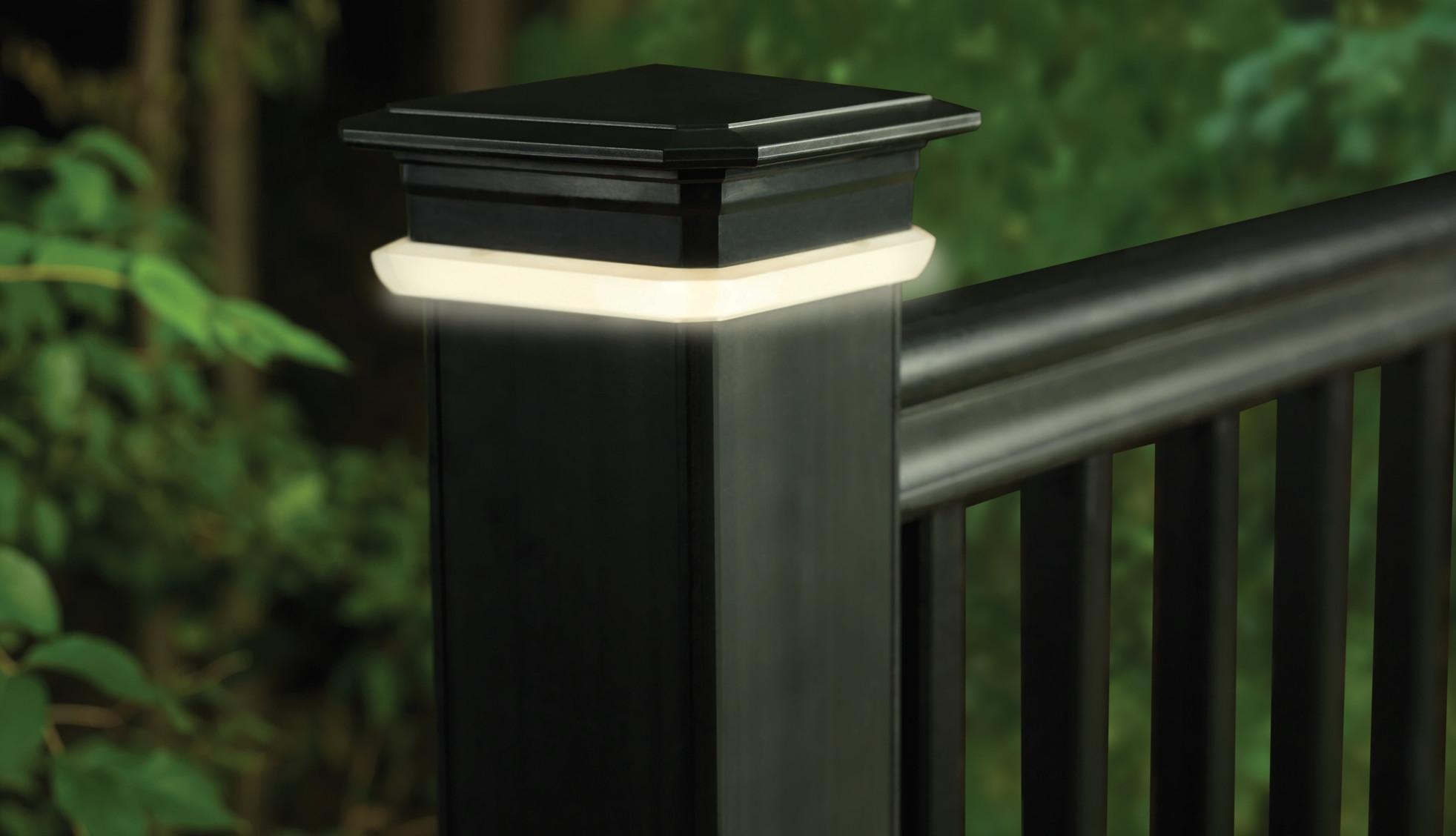 TimberTech Pfostenkappen-Leuchtmodule – Ansicht 1