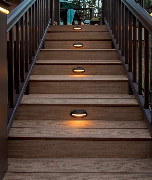 Deck Amp Rail Lighting Led Deck Lights Timbertech Doe