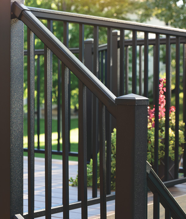 Collection de garde-corps Impression Rail de TimberTech de couleur Black