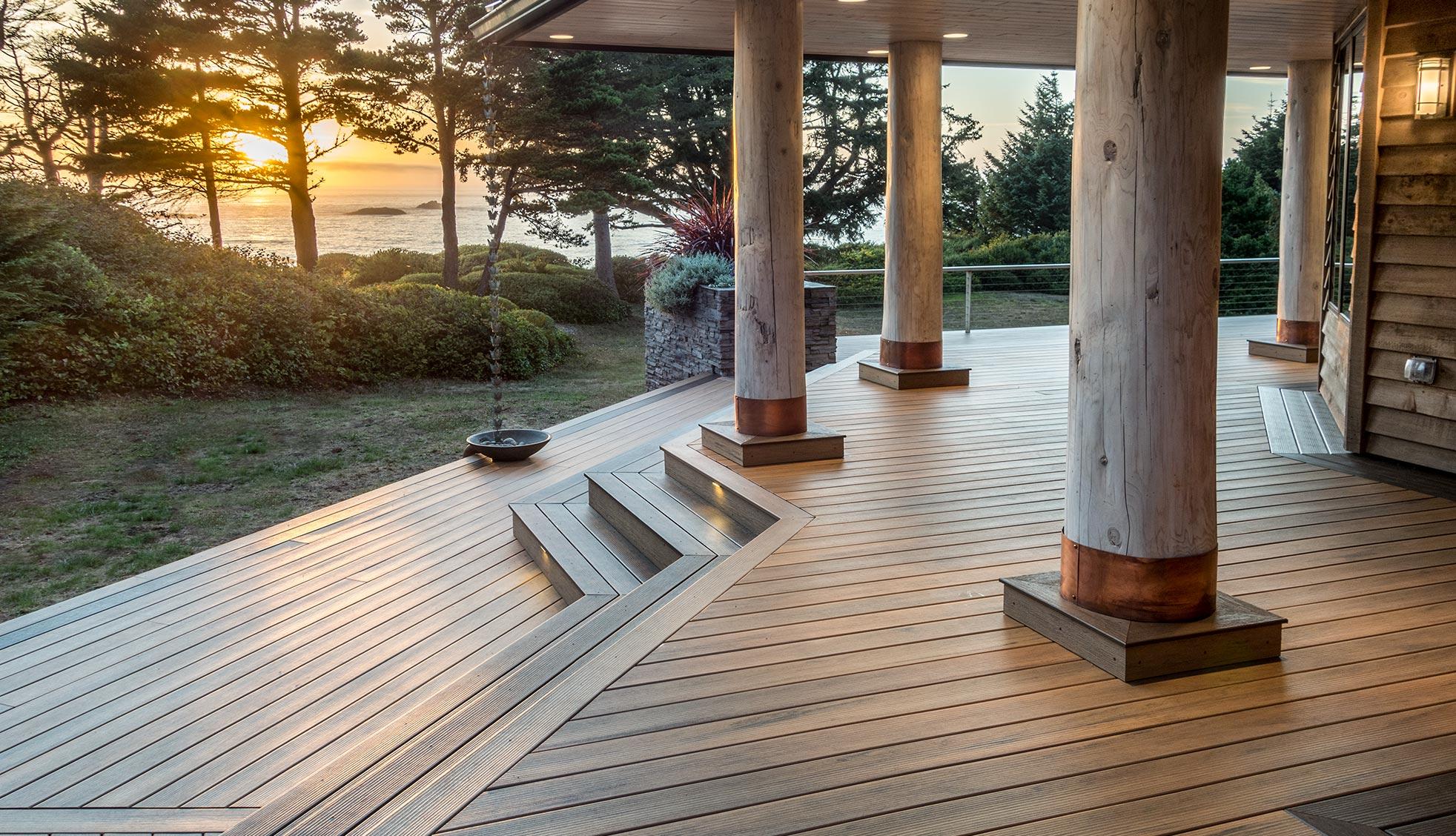 Collection de terrasses Legacy de TimberTech de couleur Tigerwood