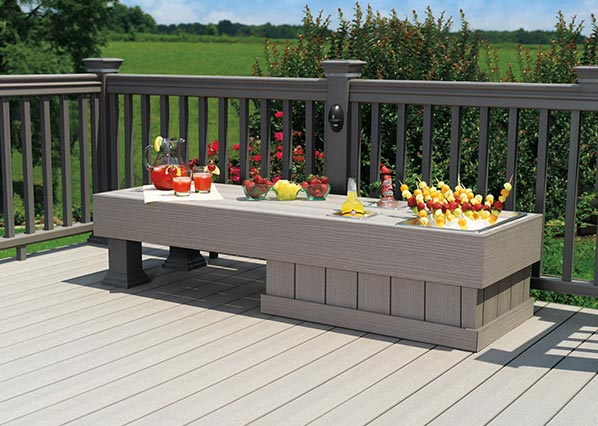 ADTG-TimberTech TwinFinish Decking Collection in Gray