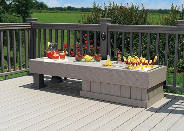 Collection de terrasses TwinFinish de TimberTech de couleur Gray