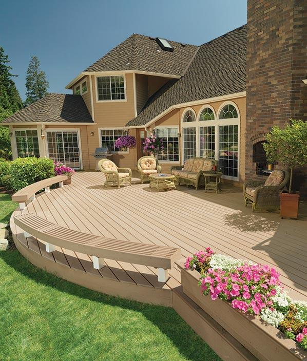 Collection de terrasses TwinFinish de TimberTech de couleur Cedar